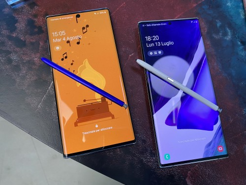 Note 10 Plus (a sinistra) e Note 20 Ultra