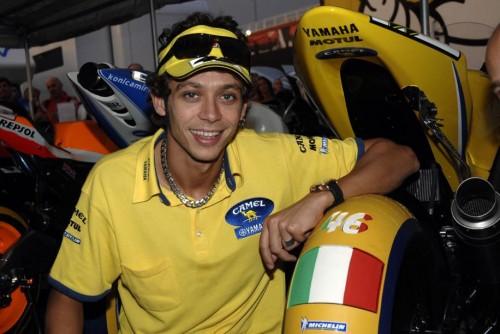 Un giovanissimo Velentino Rossi a Valencia nel 2006 (Milagro)