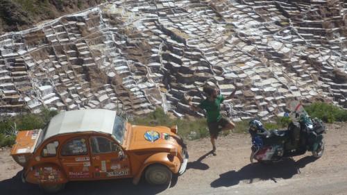 Ilario Lavarra in Peru alle Salinas de Maras