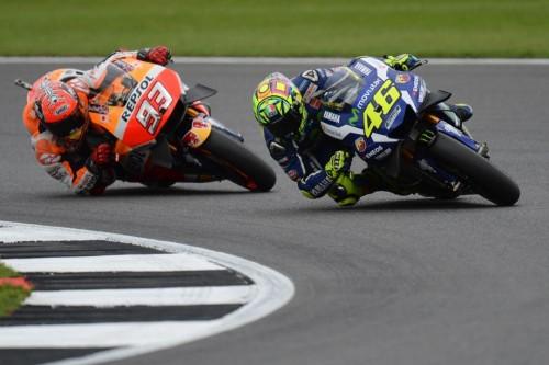 Marquez insegue Rossi: comincia la bagarre a Silverstone(AFP)
