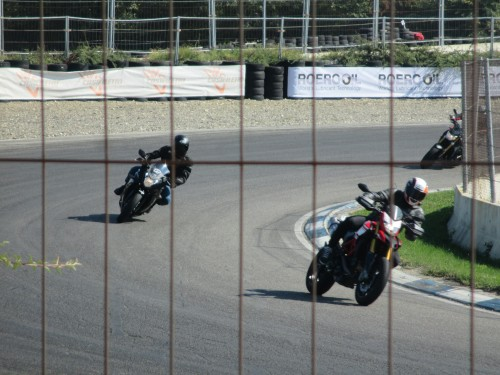 In pista a Castelletto di Branduzzo (PV): il momento della piega