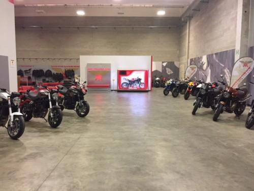 Moto Morini in pronta consegna nello stabilimento di Trivolzio. (Pavia)