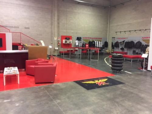 Lo show room della Moto Morini a Trivolzio