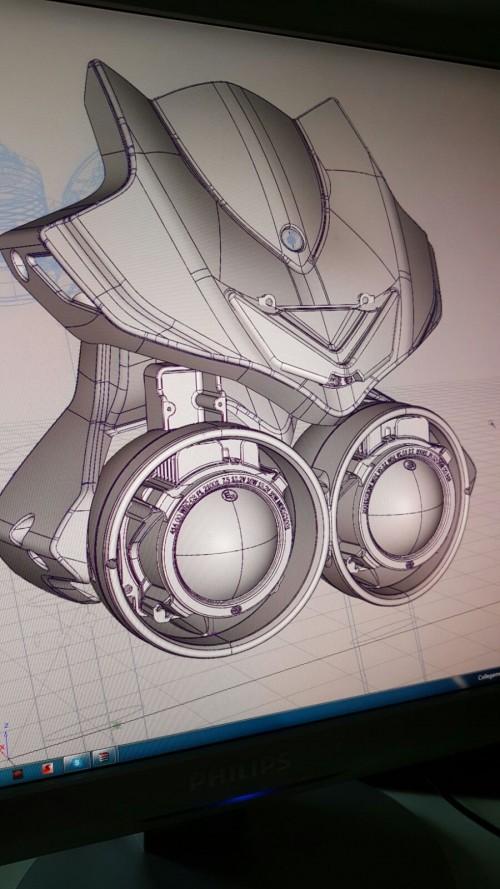 Il disegno tecnico del nuovo faro della Corsaro ZZ