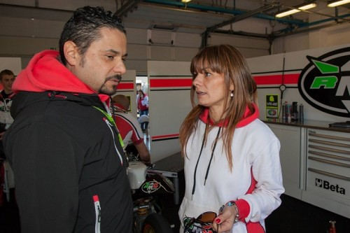 Ramona Gattamelati con il titolare del team Alessandro Ruozi