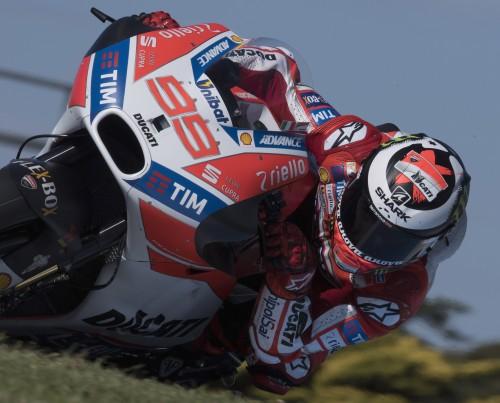 Jorge Lorenzo: ancora in corso il rodaggio con la Ducati a Phillip Island (Getty)