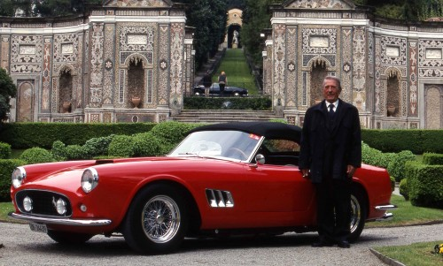 Sergio Scaglietti a Villa D'Este con Ferrari 250 GT California(Maggi &Maggi)