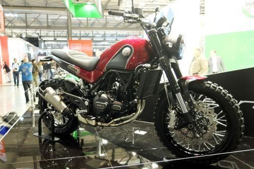Il prototipo del Benelli Leoncino presentato all'Eicma
