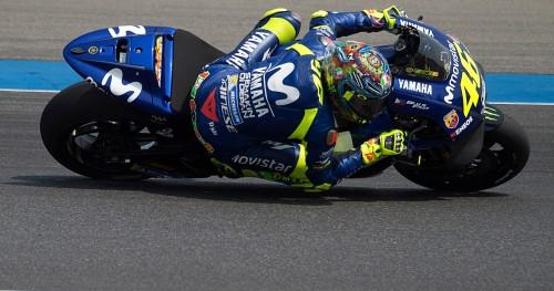 Valentino Rossi in prova sulla sua M1