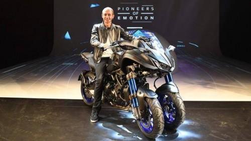 Valentino Rossi testimonial del lancio della Yamaha Niken