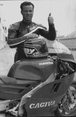Randy Mamola con la sua Cagica 500 Gp nel 1988