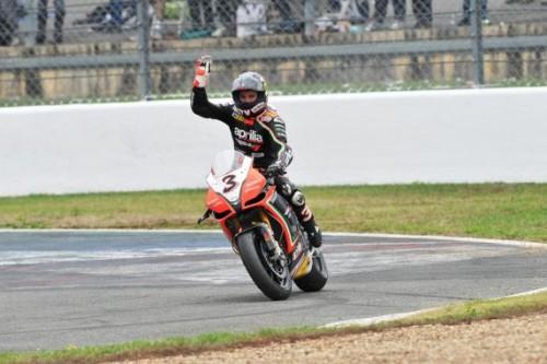 Max Biaggi nel 2012 dopo il ritorno in Superbike (Foto ANSA)
