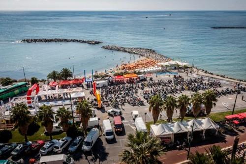 Hardapitour 2018: il parco chiuso della Sanremo-Sestriere