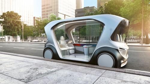 Il concept shuttle elettrico a guida autonoma che Bosch presenterà al prossimo CES di Las Vegas