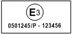 L'etichetta di omologazione di un casco