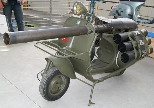 La Vespa 150 TAP prodotta per l'esercito francese tra il 1956 e il 1959