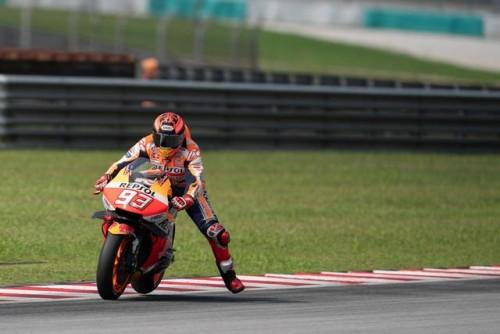 Marc Marquez impegnato nei recenti test in Malesia
