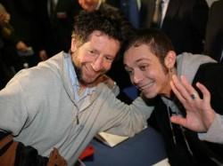 Graziano Rossi (a sinistra) con il figlio Valentino