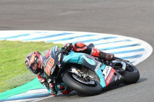 Fabio Quartararo, buon quarto a Jerez con la Yamaha del team Petronas