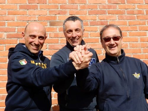 Da sinistra: Edoardo Zucca, Giorgio Bandoli, Valter Carbone