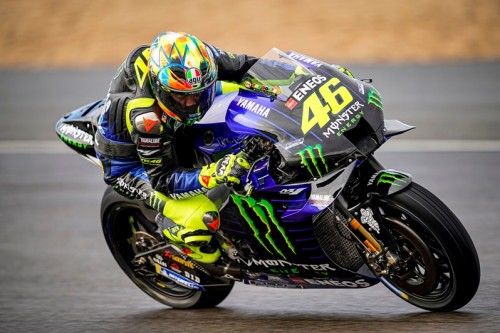 Valentino Rossi impegnato nei test di Jerez