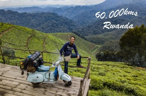 IlarioLavarra festeggia in Ruanda i 60.000 km con alle spalle un paesaggio bellissimo