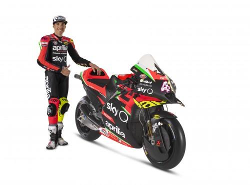Aleix Espargaro con la nuova Aprila RS-GP 2020