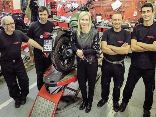 La squadra di un famoso concessionario moto: Francone a Milano