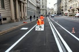 Milano: lavori per la nuova pista ciclabile