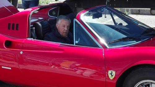 Renato Pozzetto al raduno del Club Italia per la presentazione della Ducati del sodalizio