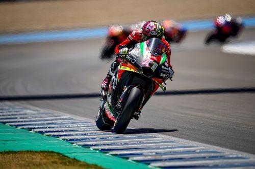 Aleix Espargaro in azione a Jerez 2020
