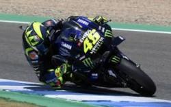 Rossi in azione a Jerez