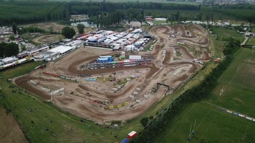 Il tracciato della pista di motocross a Mantova