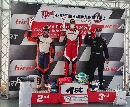 Andrea Fersini di nuovo sul podio alla finale Mondiale Easy Kart: terzo assoluto