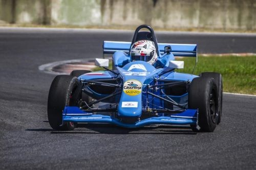 Andrea Fersini in pista durante la Coppa Italia Formula X Italian series