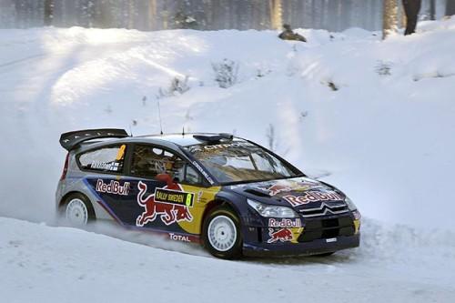 Kimi Raikkonen al rally di Svezia neel 2010 (Foto Micke Fransson/EPA)
