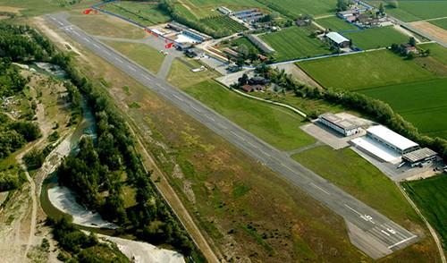 L'aeroporto di Rivanazzano Terme che sarà la base logistica di ISDE 2021