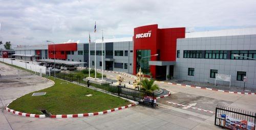 Lo stabilimento Ducati in Thailandia a sud di Bangkok