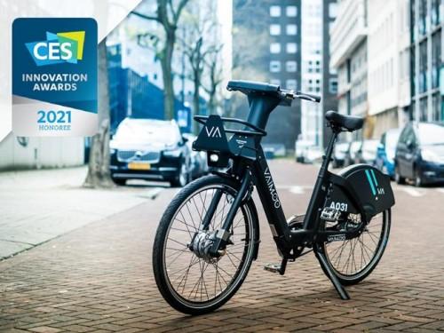La bici elettrica di Vaimoo il sistema italiano di bike sharing premiato al Ces di Las Vegas 2021