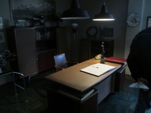 La ricostruzione dell'ufficio di Carlo Guzzi, fondatore della Moto Guzzi