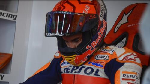 La concentrazione di Marc Marquez al rientro a Portimao 2021 (MotoGP.com)