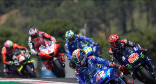 Da sinistra: Aprilia; Ducati; Suzuki e Yamaha. Grande sfida a Portimao 2021