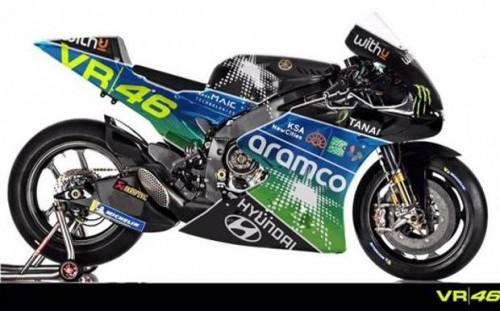 La livrea della MotoGP del Team VR46 nella ricostruzione della Gazzetta dello sport