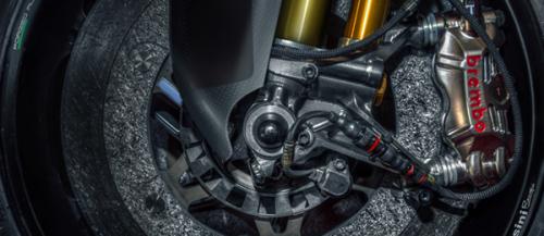 L'impianto frenante Brembo di una moderna MotoGP (Brembo.com)