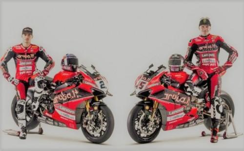 La squadra Ducati Superbike 2021: Michael Rinaldi (a sinistra) e Scott Redding