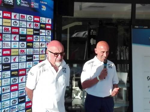 Da sinistra: Massimo Tamburelli pr di ISDE 2021 e Edoardo Zucca, comitato organizzatore