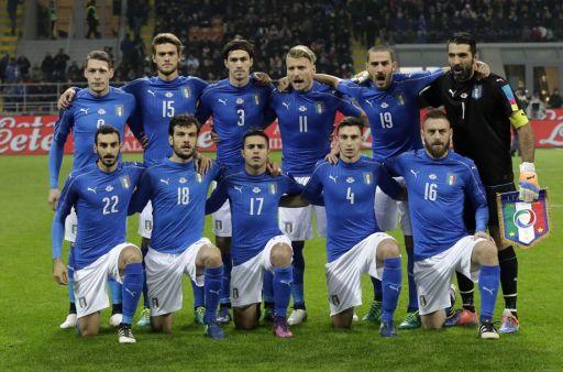 La formazione azzurra iniziale di Italia-Germania