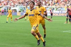 esultanza gol Paulo Dybala goal celebration Genova 26-08-2017 Stadio Marassi Calcio Serie A 2017/2018 Genoa - Juventus Foto Imagesport/Insidefoto