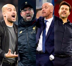 Guardiola, Klopp, ten Hag, Pochettino