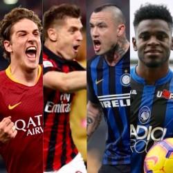 Zaniolo (Roma), Piatek (Milan), Nainggolan (Inter) e Duvan Zapata (Atalanta)